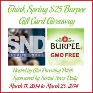 Think Spring $25 Burpee Gift Card Giveaway