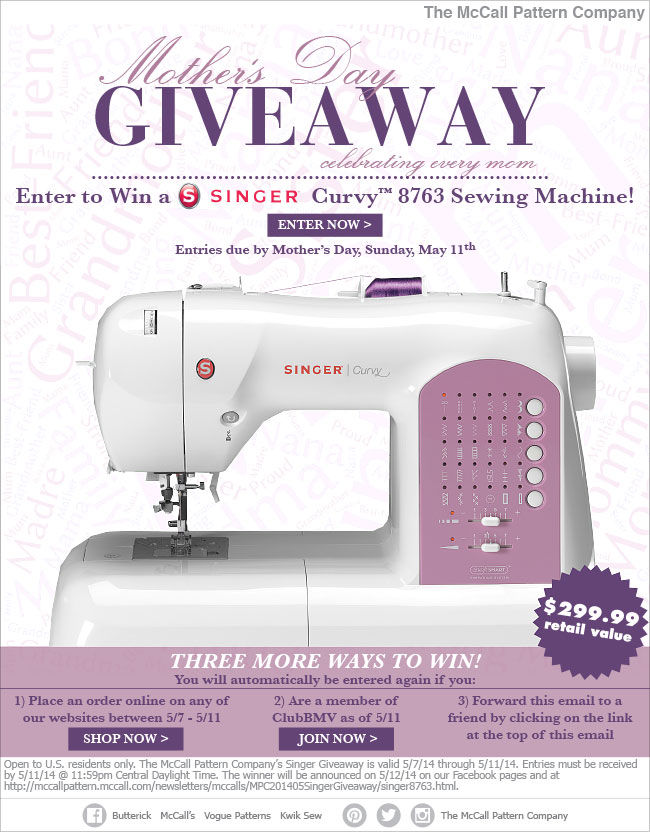 business giveaway machine singer sewing machine giveaway knitty gritty savings 1653